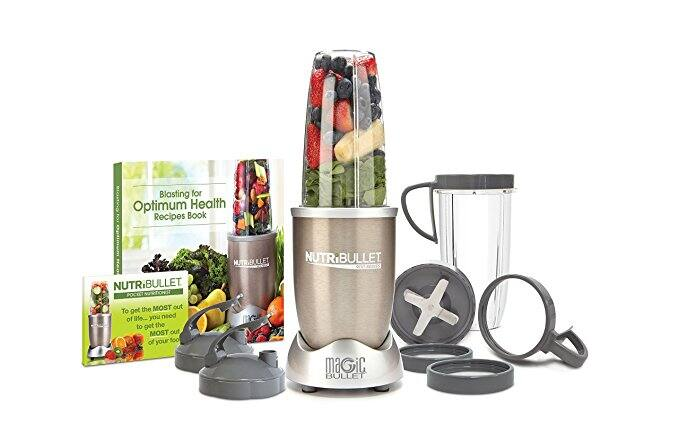 NutriBullet Pro - 13-Piece High-Speed Blender/Mixer System with Hardcover Recipe Book Included (900 Watts) $60