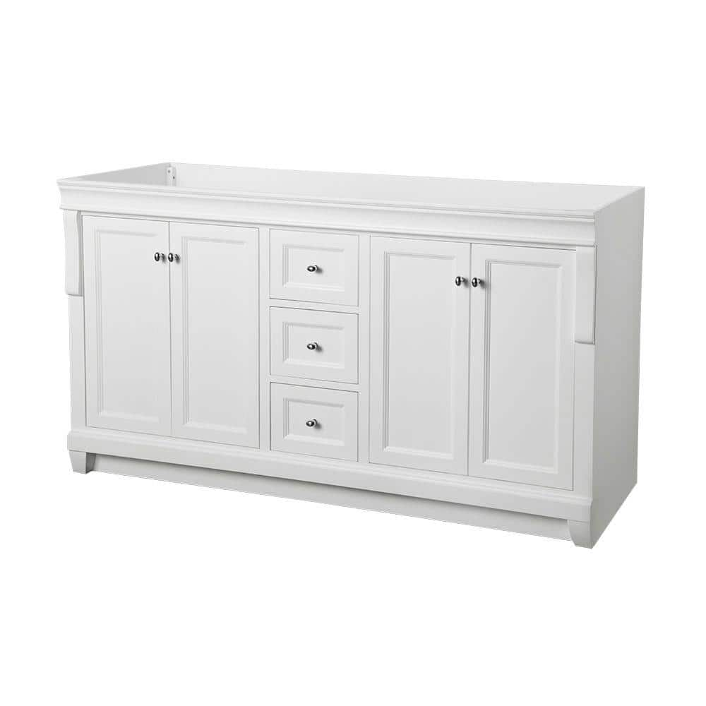 Naples 60 in. W x 21-3/4 in. D Bath Vanity Cabinet Only in White $510