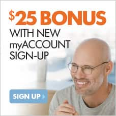LensCrafters BONUS $25 with new myAccount