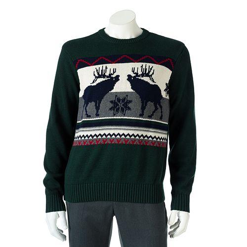 Men's Dockers® Moose Sweater $6.40 @ kohs