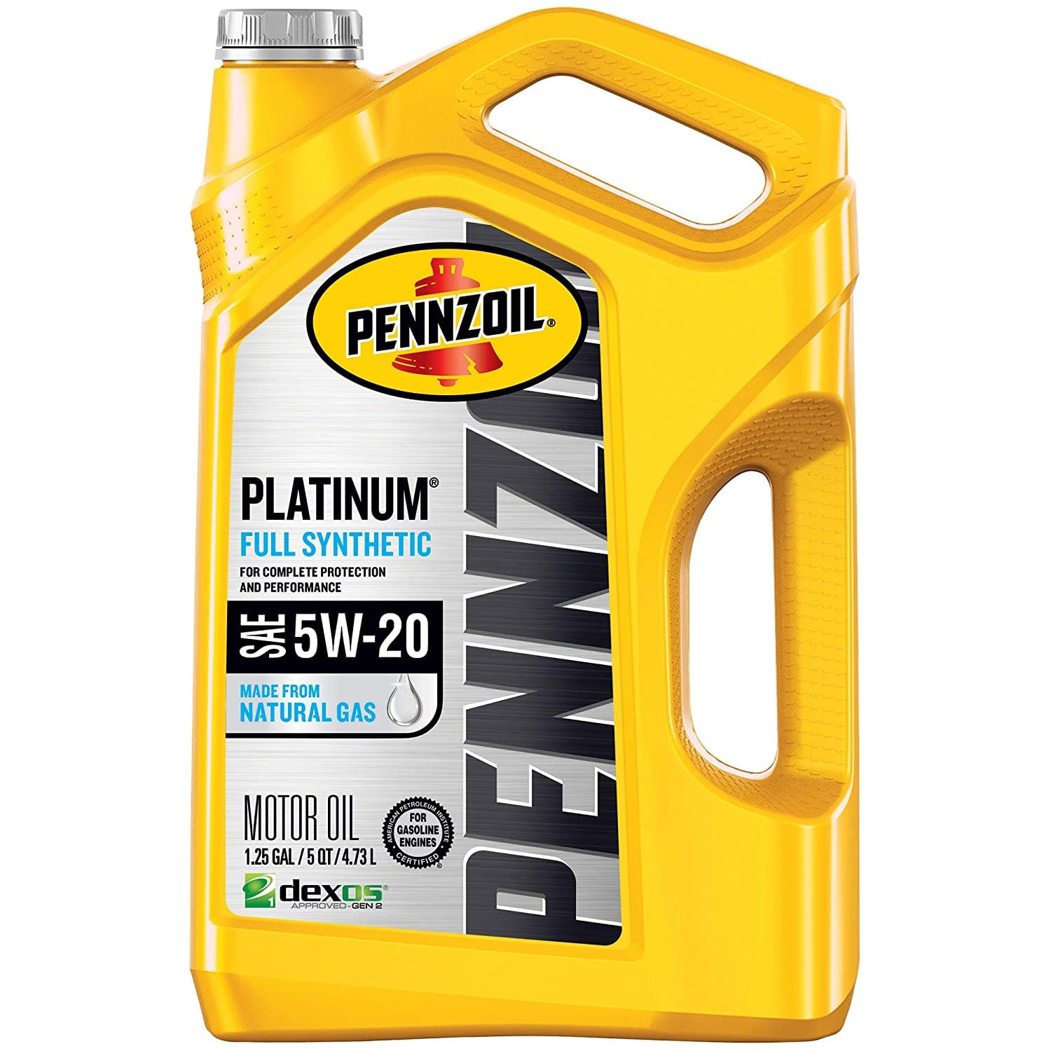Amazon: Pennzoil Platinum Full Synthetic Motor Oil (SN) 5W-20, 5 Quart - Pack of 1 $12.45 + FREE Shipping on orders over $25.00