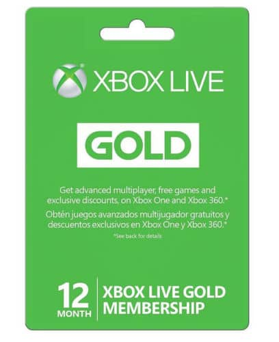 12 Month xbox live gold subscription $43.99