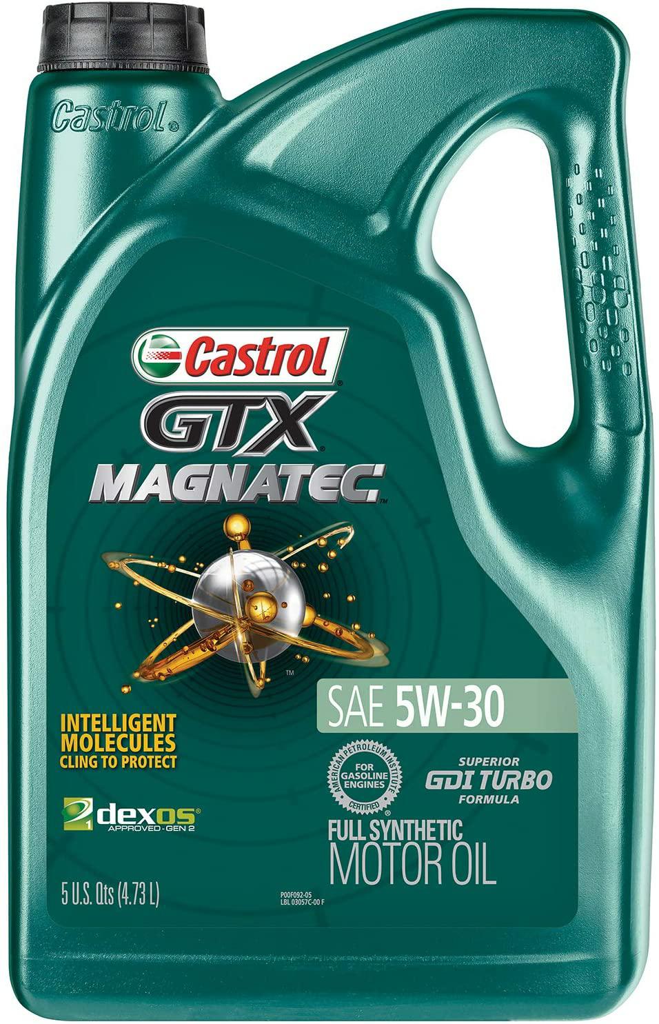 Castrol GTX MAGNATEC 5W-30 Full Synthetic Motor Oil, 5 Quart, $16.97 $16.97