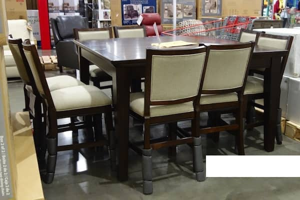 Costco Pulaski 9 Pc Counter Height Dining Set (Instore Only) $599.97