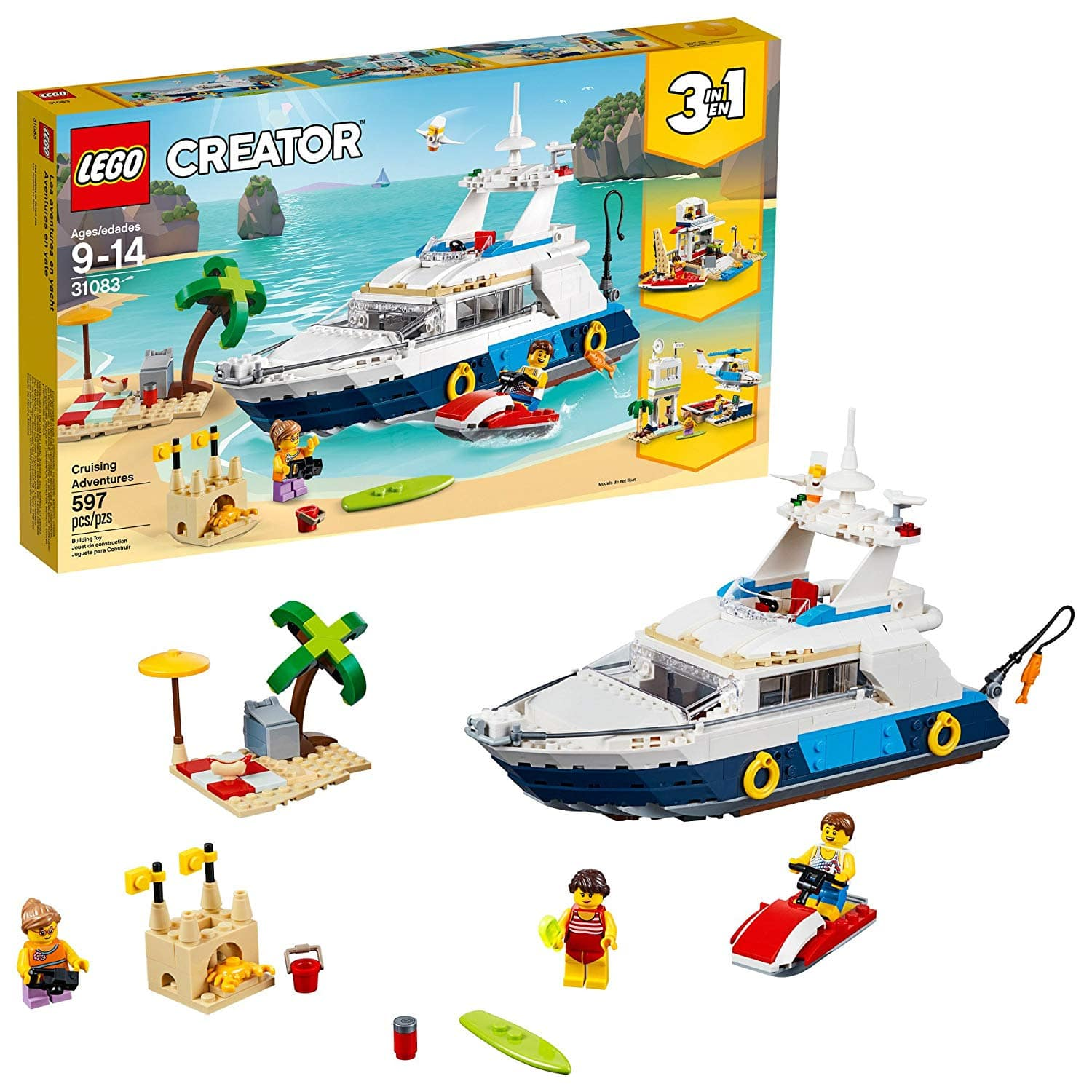 Target B&M: LEGO Creator 3in1 Cruising Adventures 31083 Building Kit (597 Pieces) for $30 and free in-store pickup