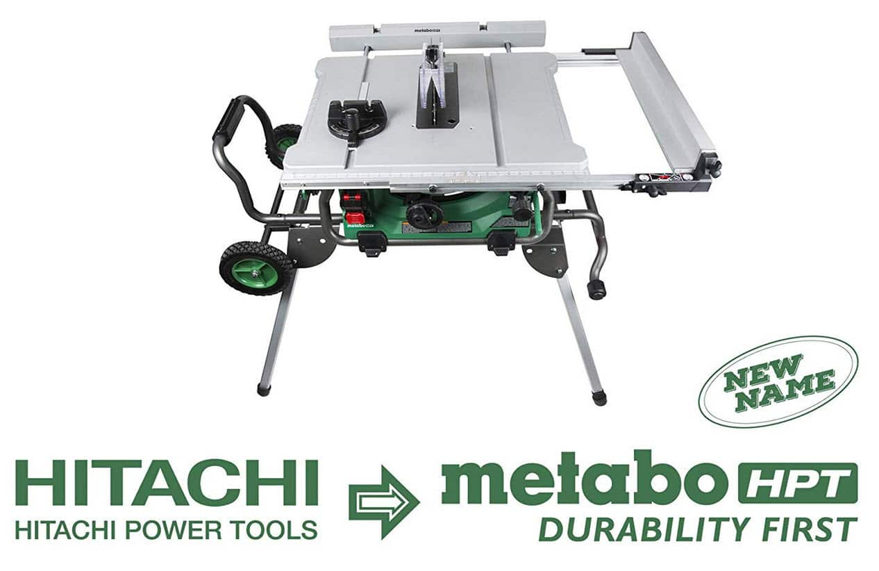 Lowe's YMMV: Metabo HPT 10-inch Jobsite Table Saw with Fold and Roll Stand for $369 and free in-store pickup