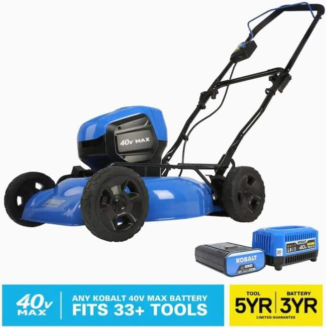 Lowe's YMMV: Kobalt 40v Brushless 19-in Cordless Lawn Mower w/Battery and Charger for $139 IN STORE ONLY