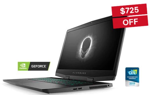 "Alienware m17 17.3"" 4k UHD i7-9750H RTX 2060 512GB SSD 16gb $1299.99"