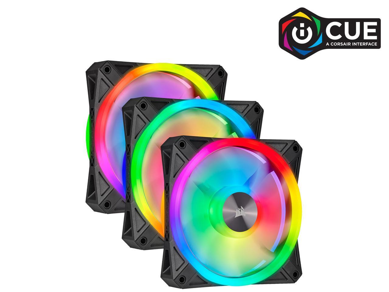 Corsair QL120 triple pack RGB LED iCUE fans $92 @ newegg $91.99