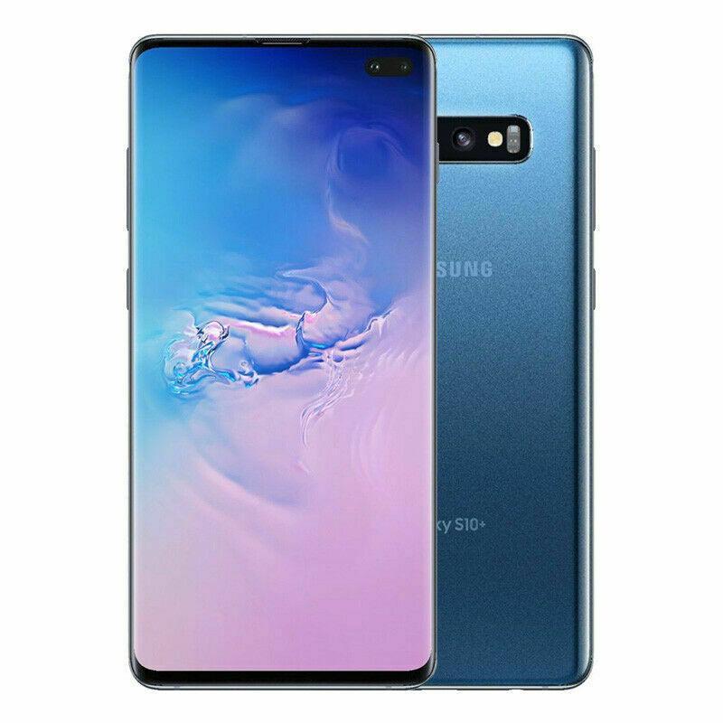 Samsung Galaxy S10+ Plus 128GB Prism Blue GSM (Factory Unlocked) $650 - $52  via 8% eBay Bucks