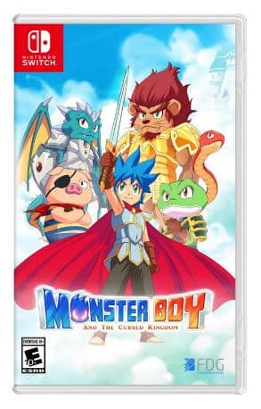 Monster Boy and the Cursed Kingdom Switch physical $20 gamestop plus more