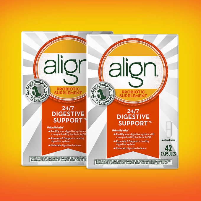 align Daily Probiotic Supplement - 84 Capsules - Costco + Free Shipping $46.74