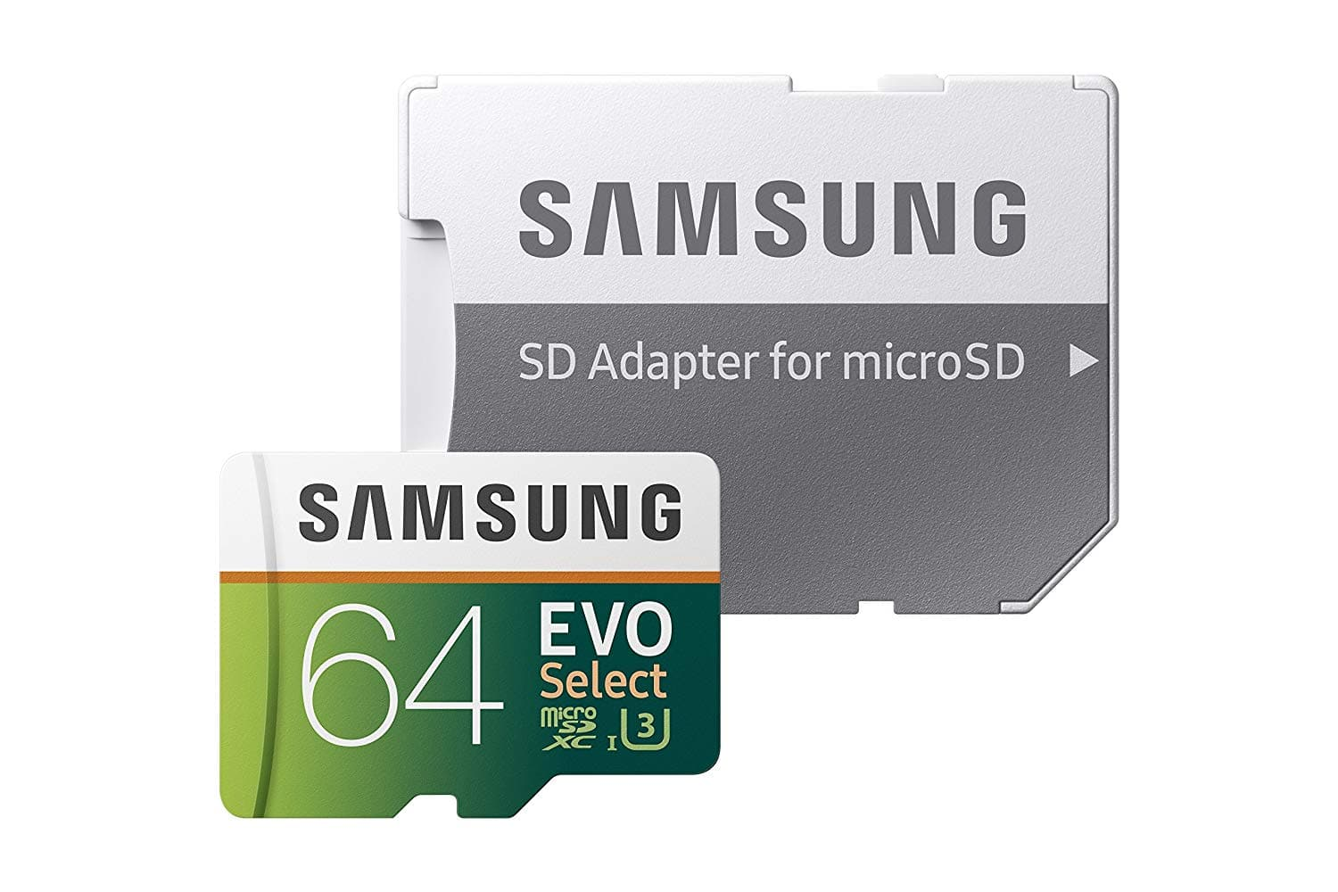 Samsung 64GB 100MB/s (U3) MicroSDXC EVO Select Memory Card with Full-Size Adapter for $12 with Prime FS