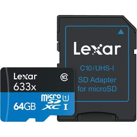 Lexar High-Performance UHS-I 64gb UHS-I U1 Memory Card with SD Adapter for $10 Adorama with free shipping