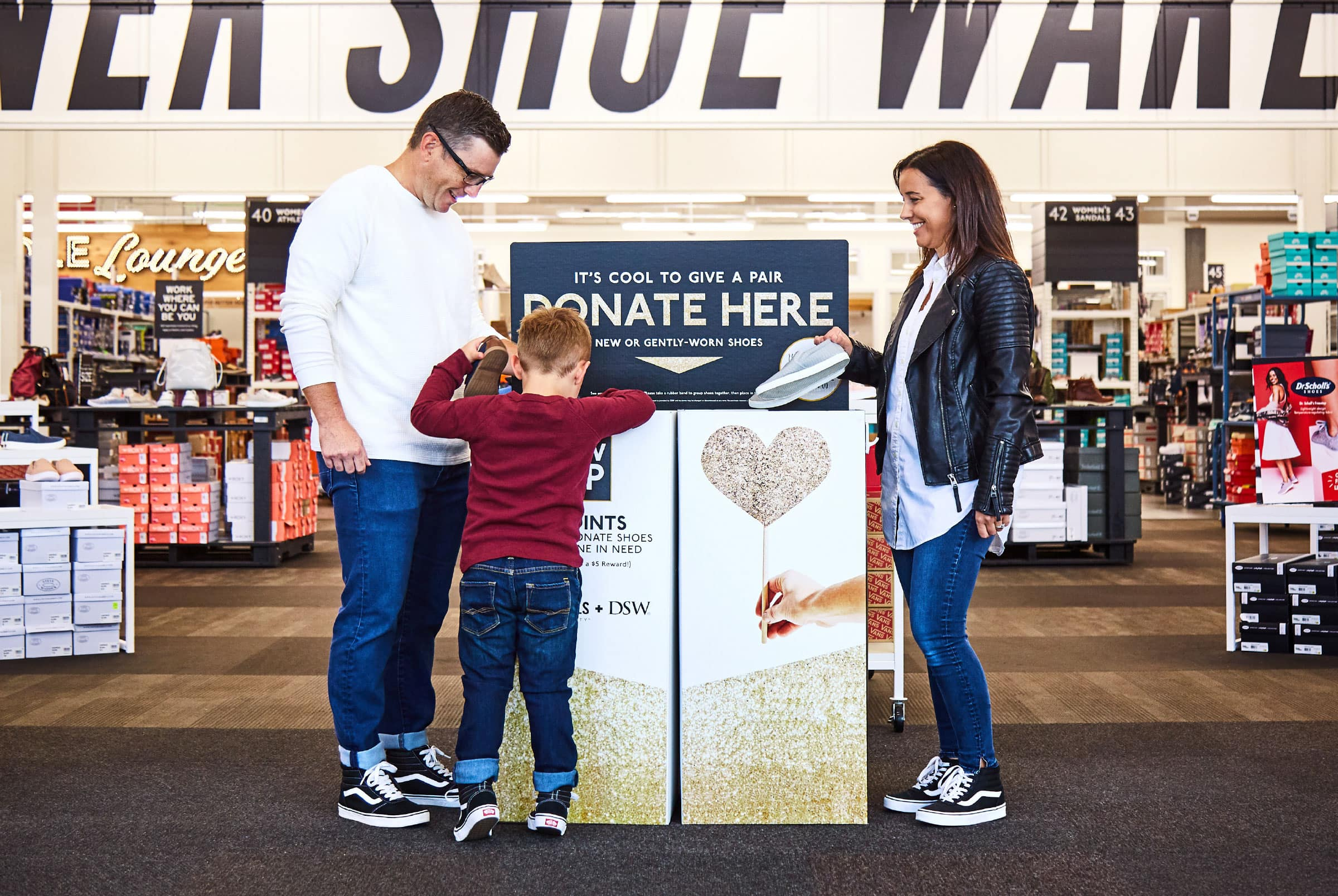 FREE $10 at DSW for donating a pair of shoes - $0