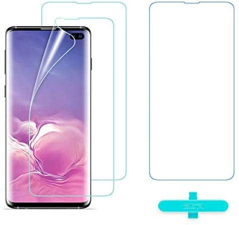 SR Essential Zero Super-thin Clear Case, Yippee Soft Liquid Silicone Grip Case and Screen Protector for Samsung Galaxy S10 Plus $3.99