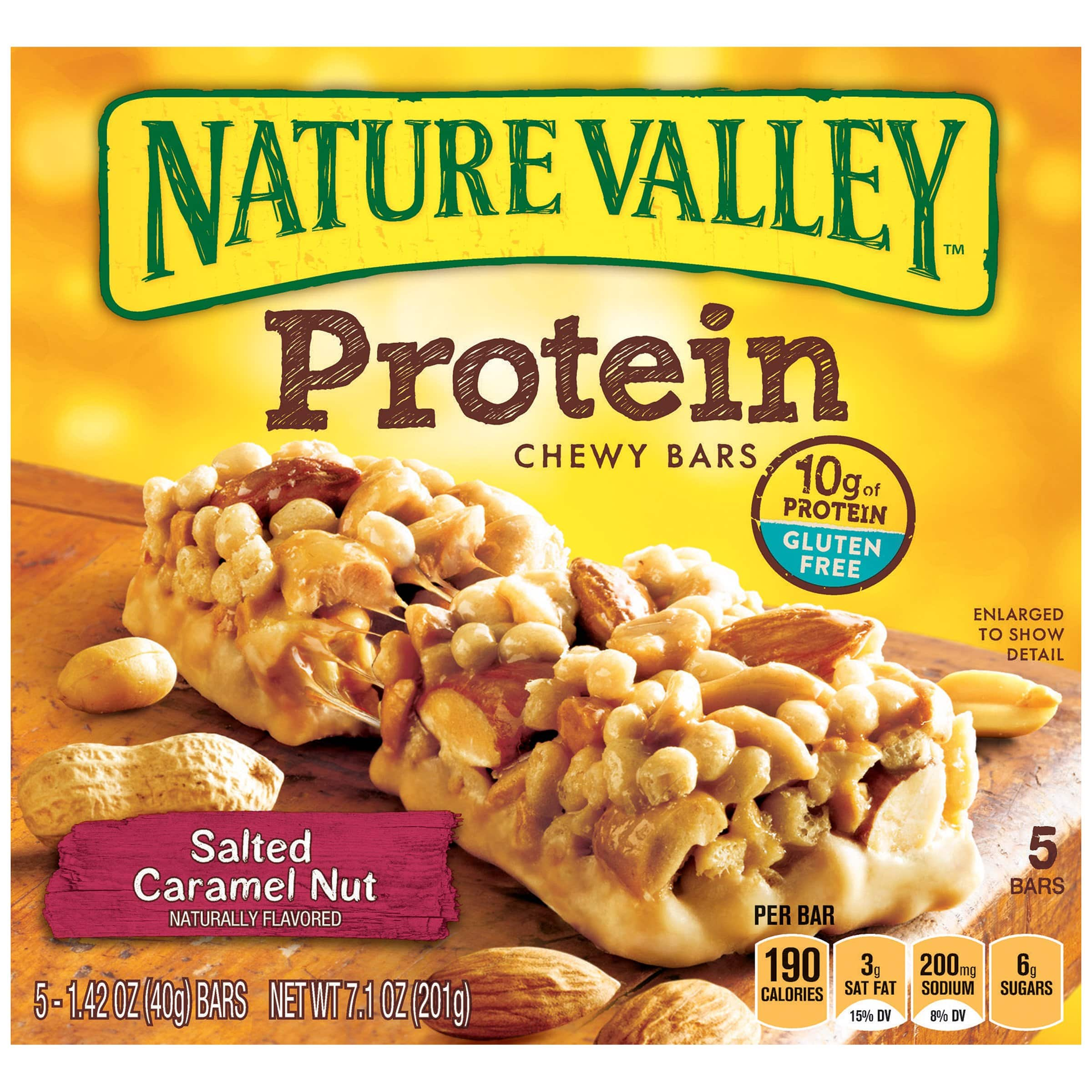 5-Count Nature Valley Protein Chewy Granola Bars 6 packs 14.00