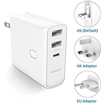 2-in-1 Portable Charger and 5000mAh External Battery Plus International Adapter 16.09 AC @amazon + FS w/ prime $16.09