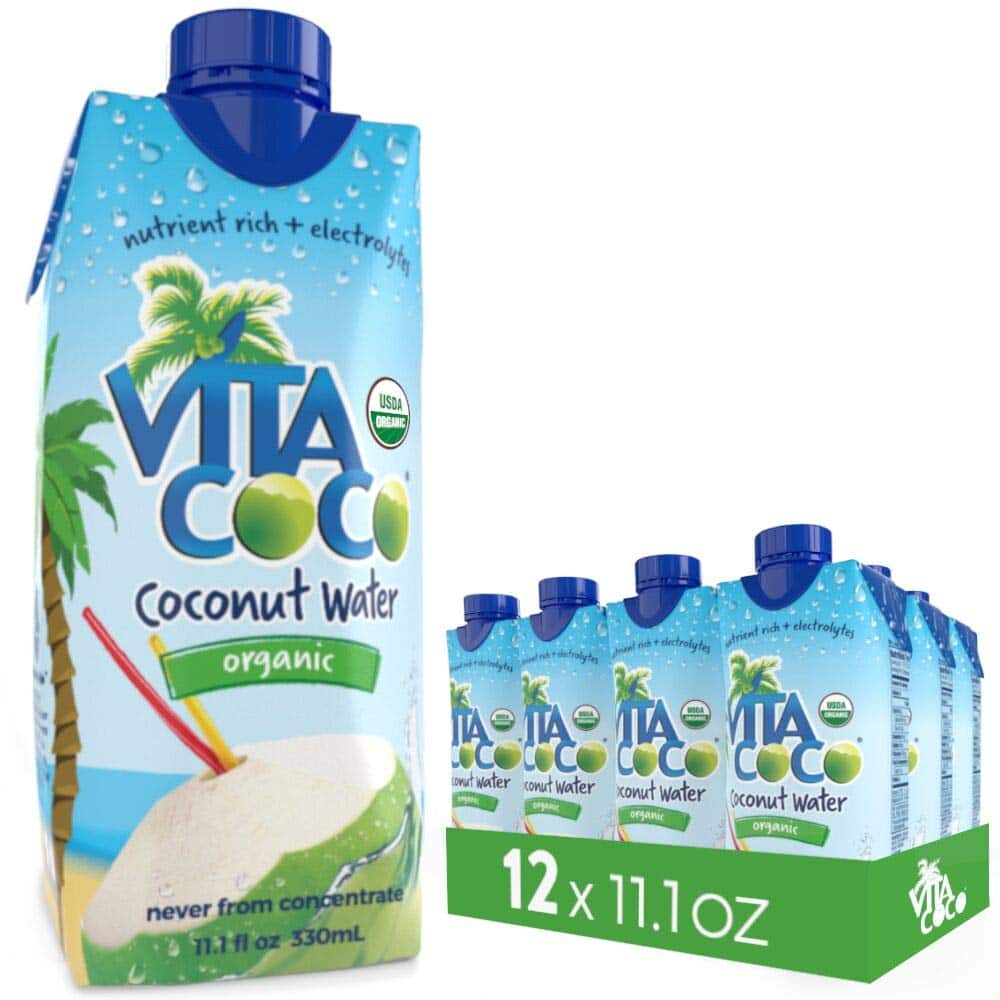 Vita Coco Organic Coconut Water, Pure - 11.1 Fluid Ounce (Pack of 12) - $8.54