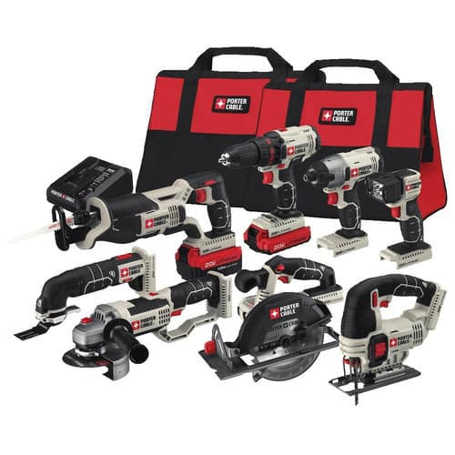 PORTER-CABLE 8-Tool 20-Volt Max Lithium Ion Cordless Combo Kit  $349.00 Was $499.00 SAVE 30% thru 05/03/2018