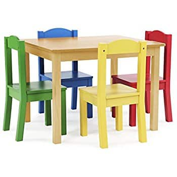 Tot Tutors Kids Wood Table and 4 Chairs Set @amazon for $67.99