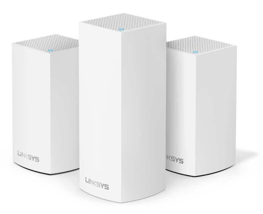 Linksys Velop Triband AC4800 Intelligent Mesh WiFi System | 3 Pack | Coverage up to 5,000 Sq Ft | Walmart Exclusive $252.75