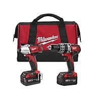 Home Depot Deal: Home Depot - Milwaukee M18 18-Volt Combo Cordless Tool Kit  with 2 EXTRA FREE BATTERIES (4 BATTERIES TOTAL) - $299  - TODAY ONLY - IN STORE - YMMV