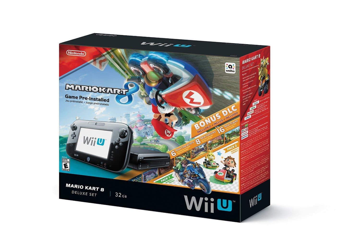 Nintendo Wii U Deluxe 32GB with Mario Kart 8 for $249.99 with free shipping at Amazon