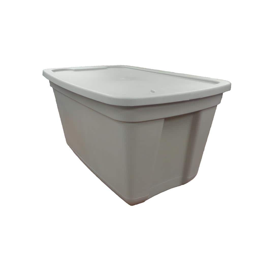 Home Depot has HDX 20 Gal. Storage Tote in Grey B&M YMMV for $4.85