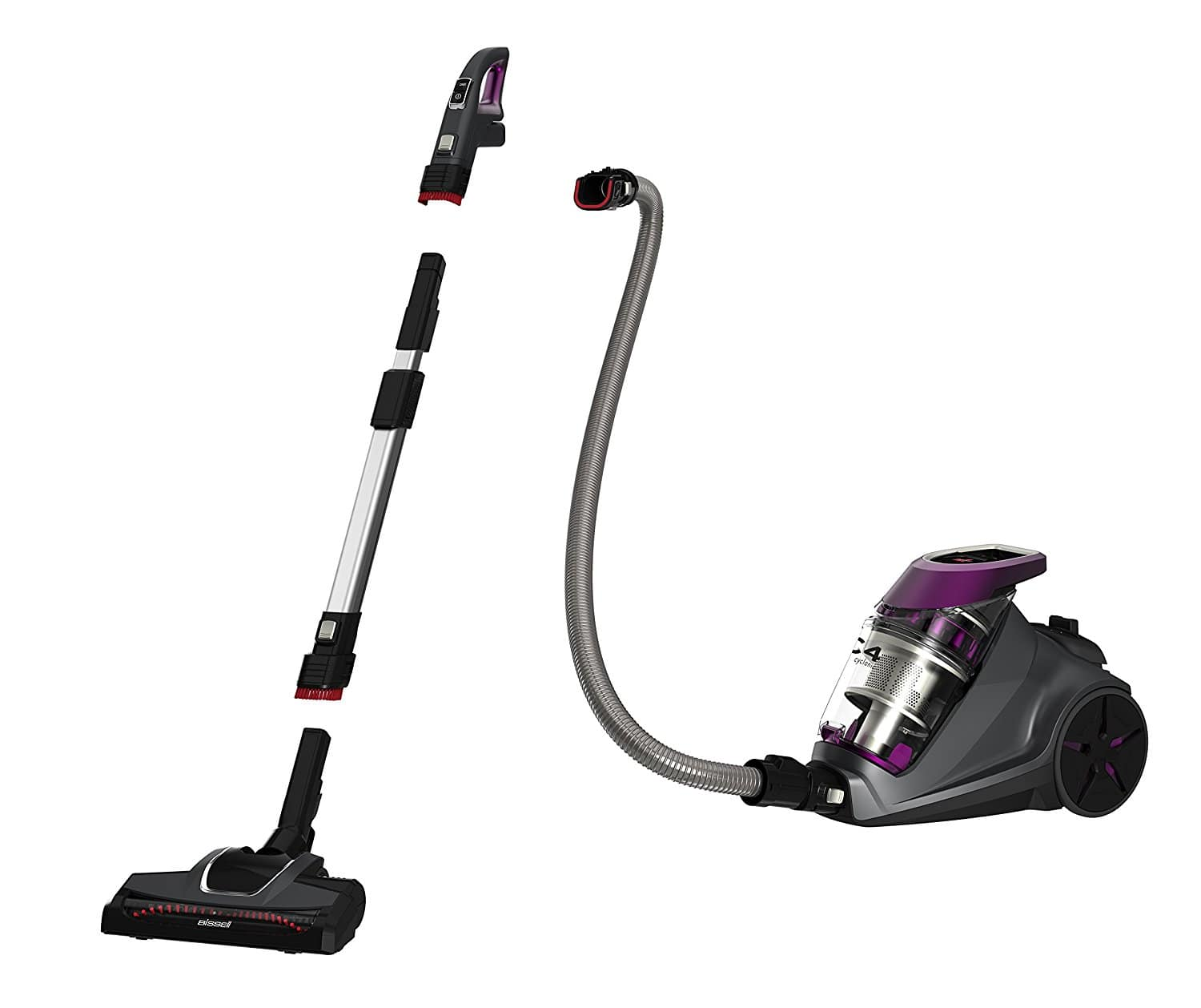 Bissell 1233 C4 Cyclonic Bagless Canister Vacuum - $77 + FS $76.84