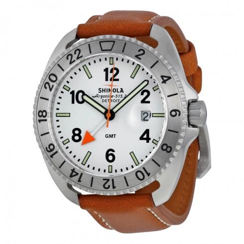 Shinola  The Rambler White Dial Natural Leather Men's Watch - $325 Free Ship