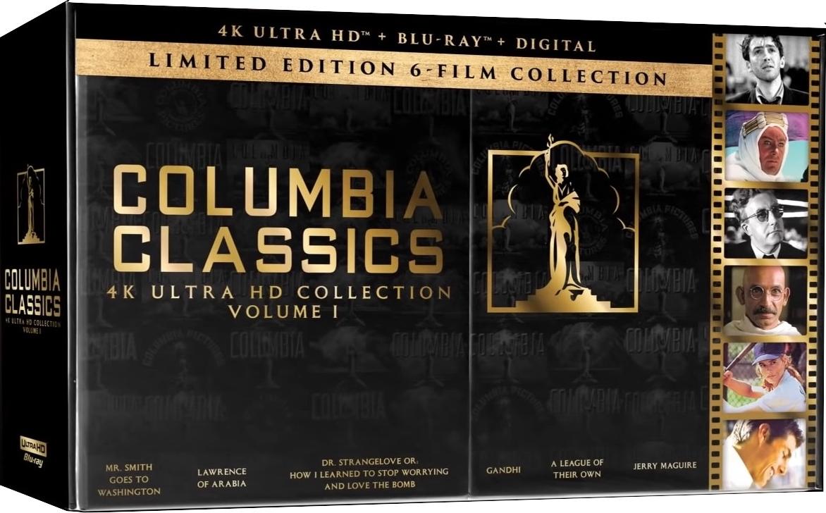 Columbia Classics 4K Ultra HD Blu-ray + Digital - Limited Edition 6-Film Collection - $100.85