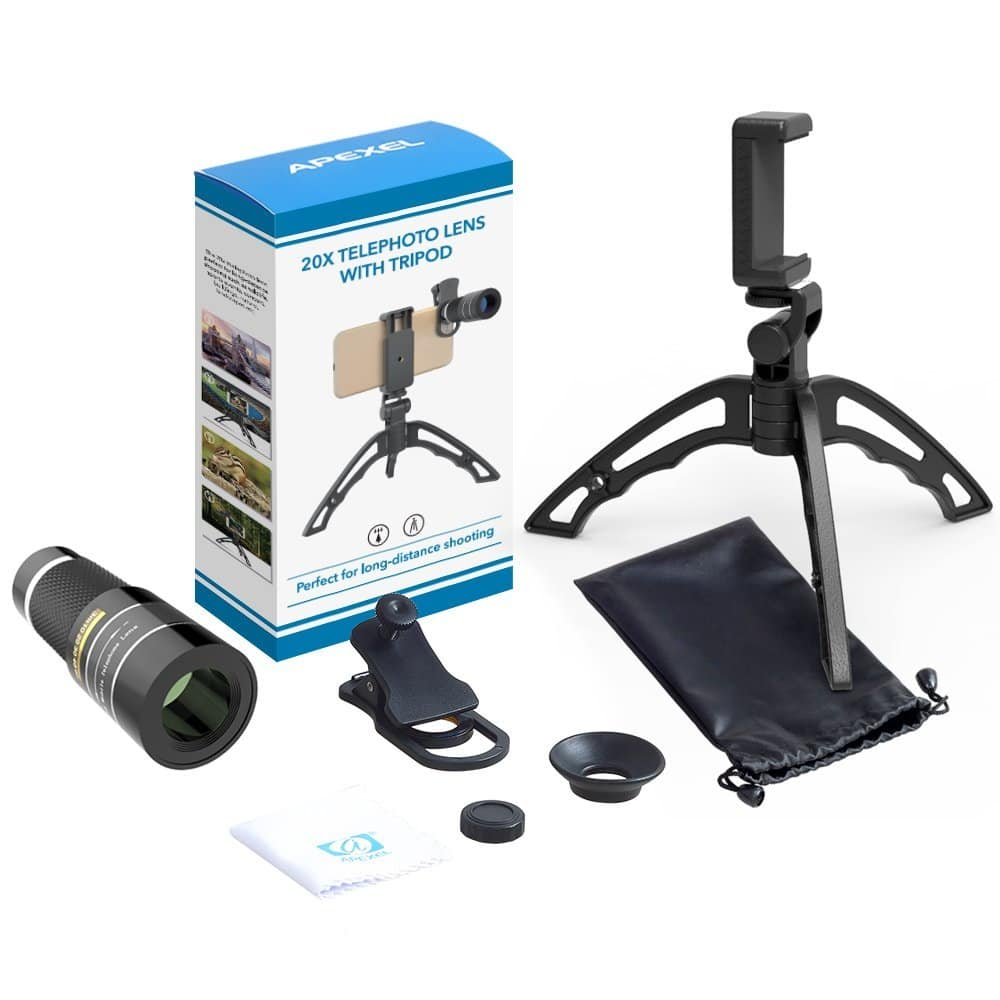 Apexel Cell Phone Telephoto Lens $8.39 with code