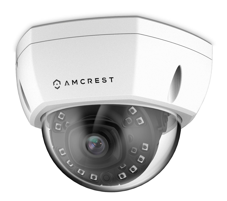 Amcrest UltraHD Outdoor 4-Megapixel PoE Vandal Dome IP Security Camera (white or black) $74.99