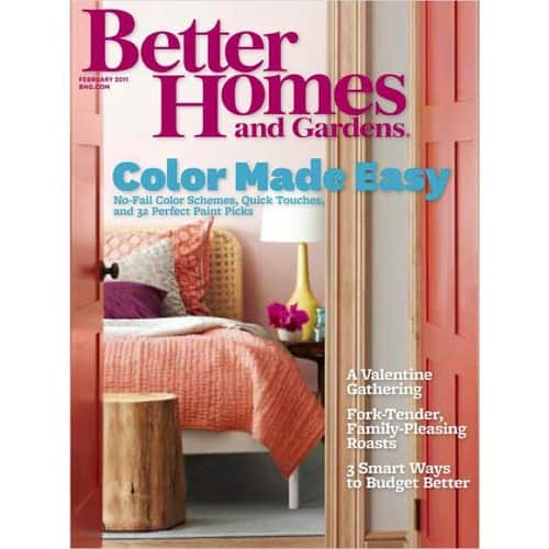 Up to 90% OFF Better Homes and Gardens Magazine $0.99