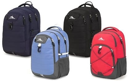High Sierra Jaxton or Brees Daypack Laptop Backpacks $12.97 + ship