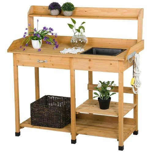 Potting Bench, 20% OFF with Coupon, was $81.99, Now is $65.59. Free Shipping!