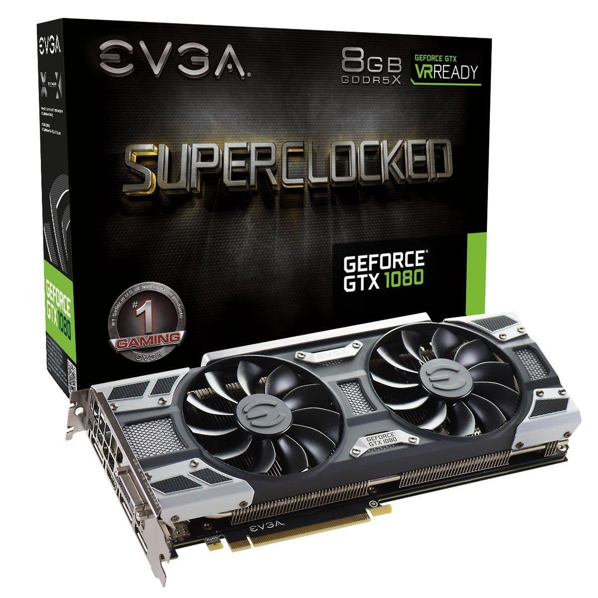 EVGA GeForce GTX 1080 SC GAMING ACX 3.0, 8GB GDDR5X, LED, DX12 OSD Support (PXOC) Graphics Card 08G-P4-6183-KR $469.99