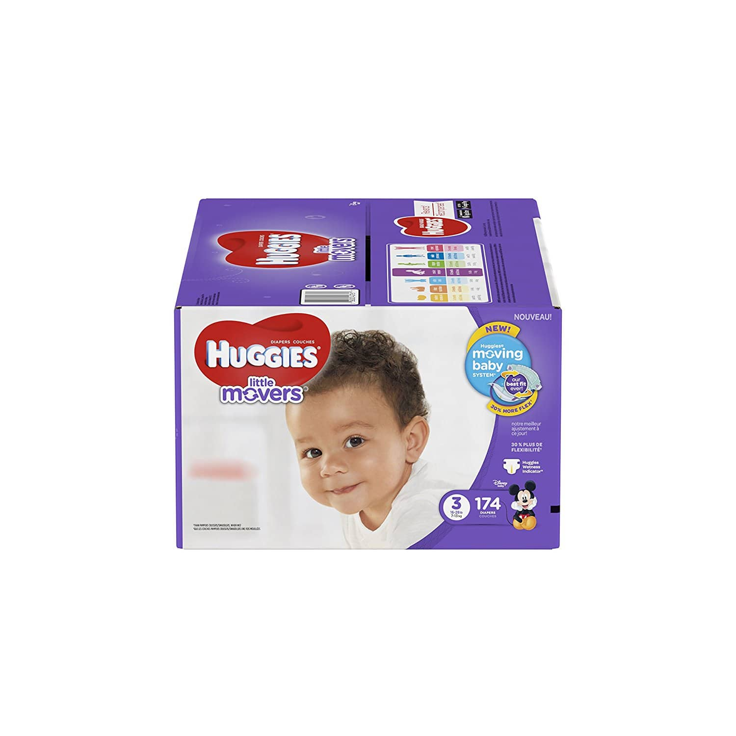 HUGGIES Little Movers Diapers, Size 3, 174 Diapers, $32.29 ($0.19/diaper!) + FREE SHIP W/ PRIME
