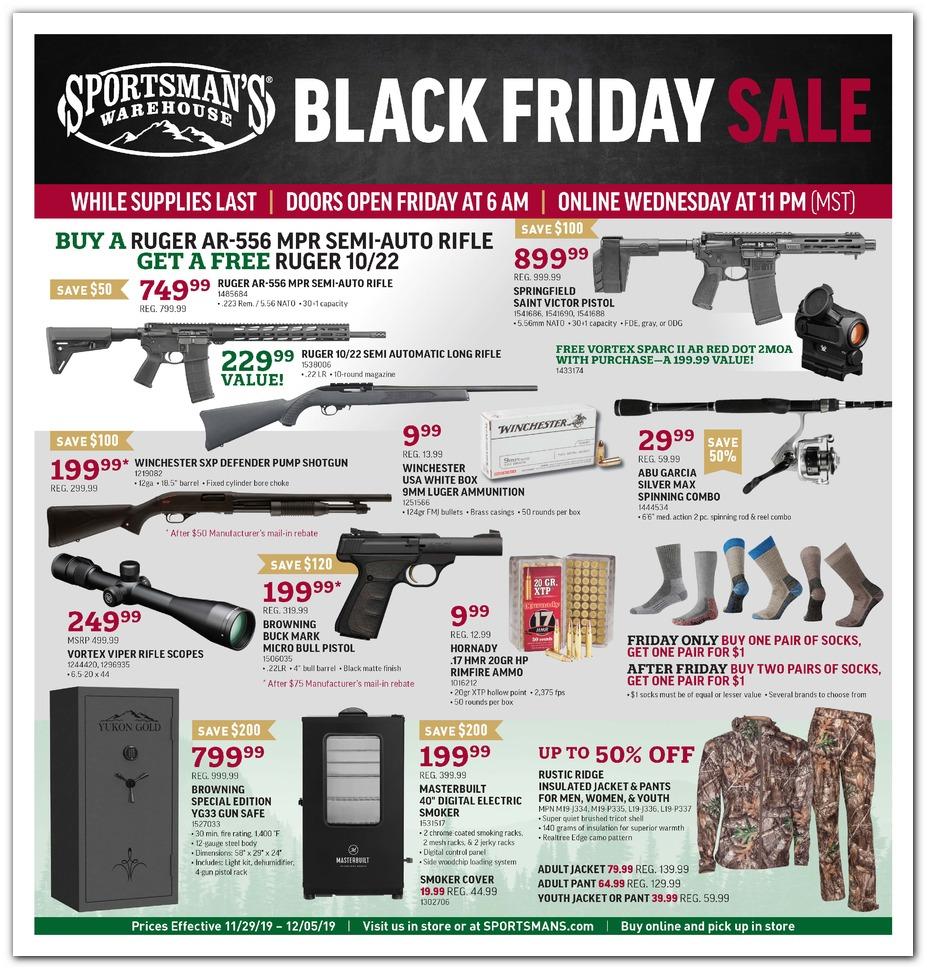 Sportsman's Warehouse Black Friday 2019 ad