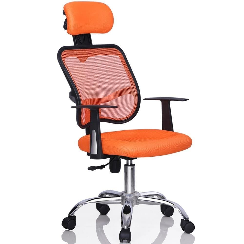 Mid-back/ High-back Swivel Task Chair Mesh Chair Orange Save 12% $43.99