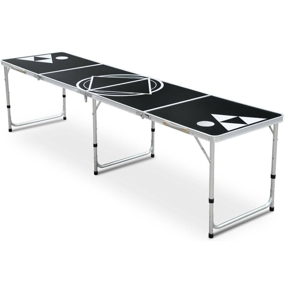 8FT Beer Pong Table Aluminum Outdoor Party Game Table BBQ Table-Easily Foldable $56