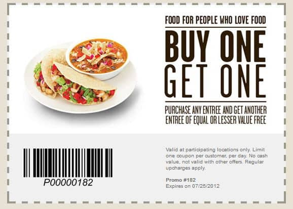 Buy One Get One Free Entree or Free Chips & Queso @ Qdoba thru Facebook