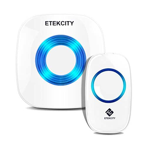 Etekcity Wireless Doorbell Kit: (1 Receiver w/1 Transmitter, 1000ft Operating Range $12.99 AC @ Amazon