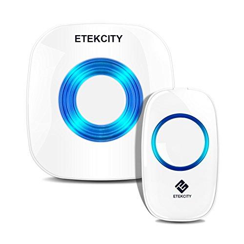 Etekcity Wireless Doorbell Kit: (1 Receiver w/1 Transmitter, 1000ft Operating Range $12.99 AC @ Amazon