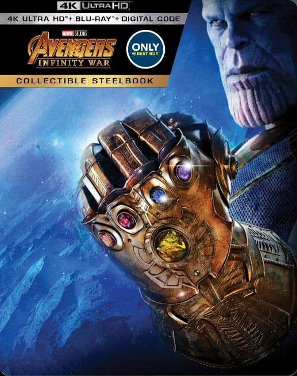 Avengers: Infinity War SteelBook Pre-Order [4K Ultra HD Blu-ray w/ Digital Copy] - $35