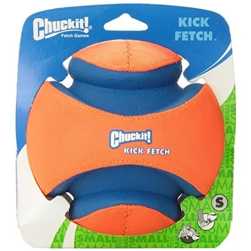 Chuckit Kick Fetch Toy Ball for Dogs [Orange/Blue, Small] - Add-on item - $9.47