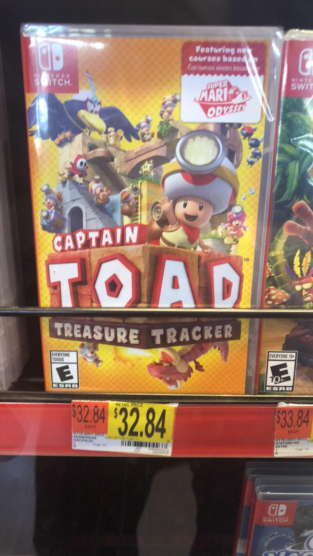 Captain Toad Nintendo Switch $32.84 Walmart