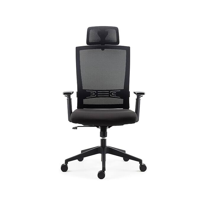 Staples Tarance Mesh Back Fabric Task Chair, Black $89