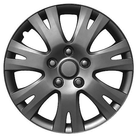 "AutoCraft Car & SUV Wheel Cover, Hubcaps, Matte Gunmetal High-impact ABS, Trend, Universal, 16"", 4 Pack AC979: Advance Auto Parts"